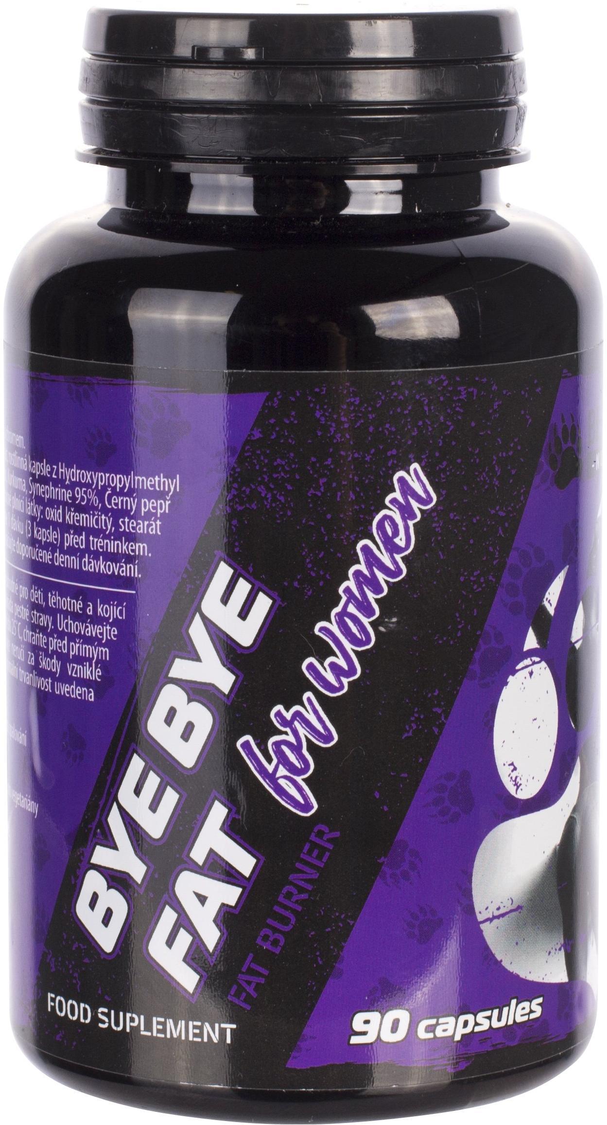 BEAR FOOT BYE BYE FAT stimulační a termogenní vícesložkový spalovač, 90 kapslí