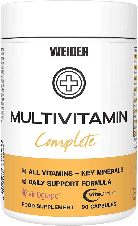 Weider Multivitamin Complete 90 kapslí, vitamíny, minerály, cholin a rostlinné extrakty