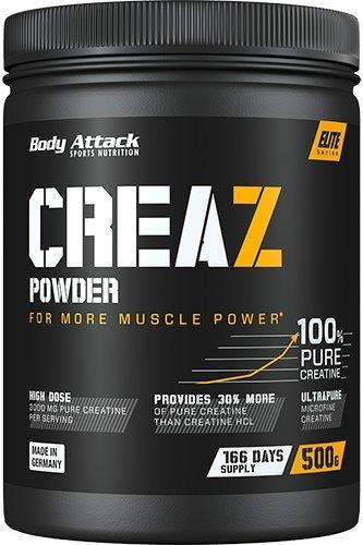 Body Attack Creaz Powder 500g, sypký bezvodý kreatin CREAZ®