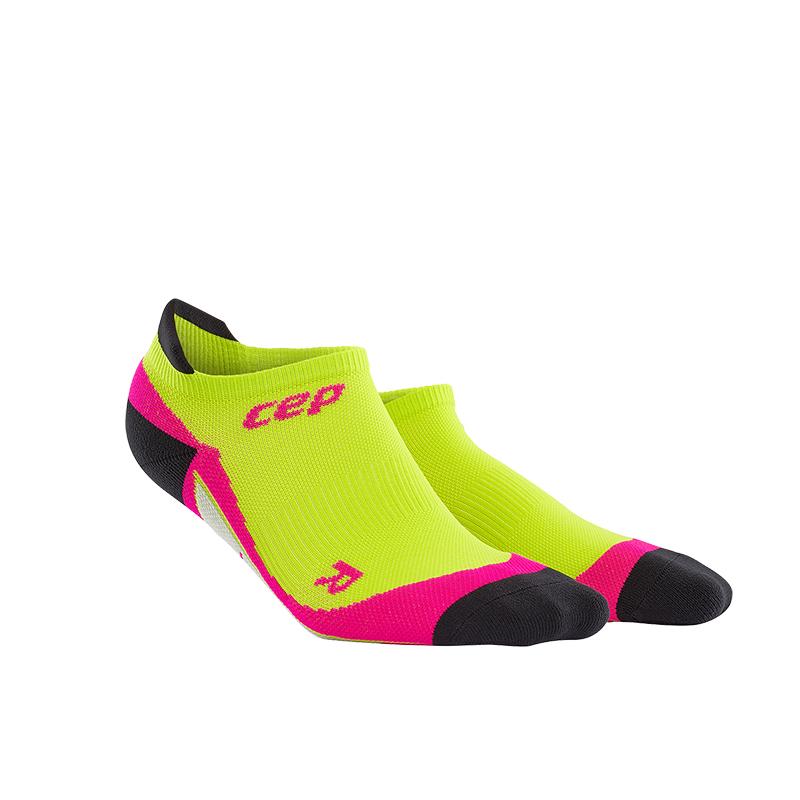 CEP Nízké ponožky dámské limetková / růžová II
