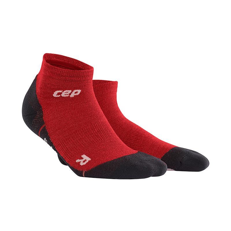 CEP Outdoorové členkové ponožky ultralight merino pánske deep magma V