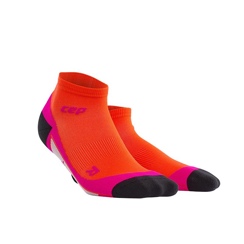 CEP Kotníkové ponožky dámské tmavě oranžová / růžová IV