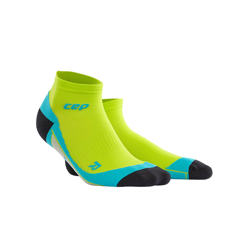 CEP Kotníkové ponožky pánské limetková   havajská modř III dd3c68f099