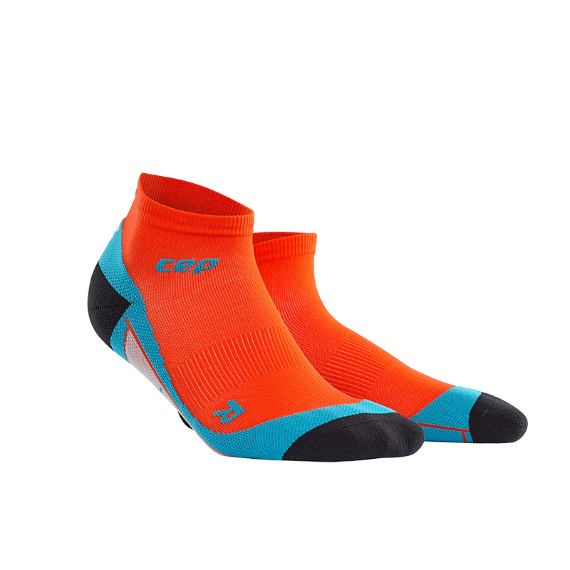 CEP Kotníkové ponožky pánské tmavě oranžová   havajská modř III 21408c69ad