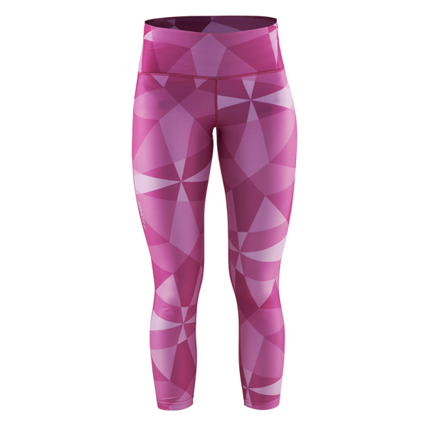 Craft W Kalhoty Pure Print 7/8 potisk růžová S