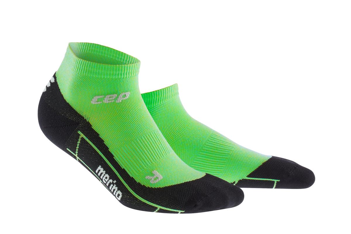 CEP Běžecké kotníkové ponožky merino pánské viper / černá III