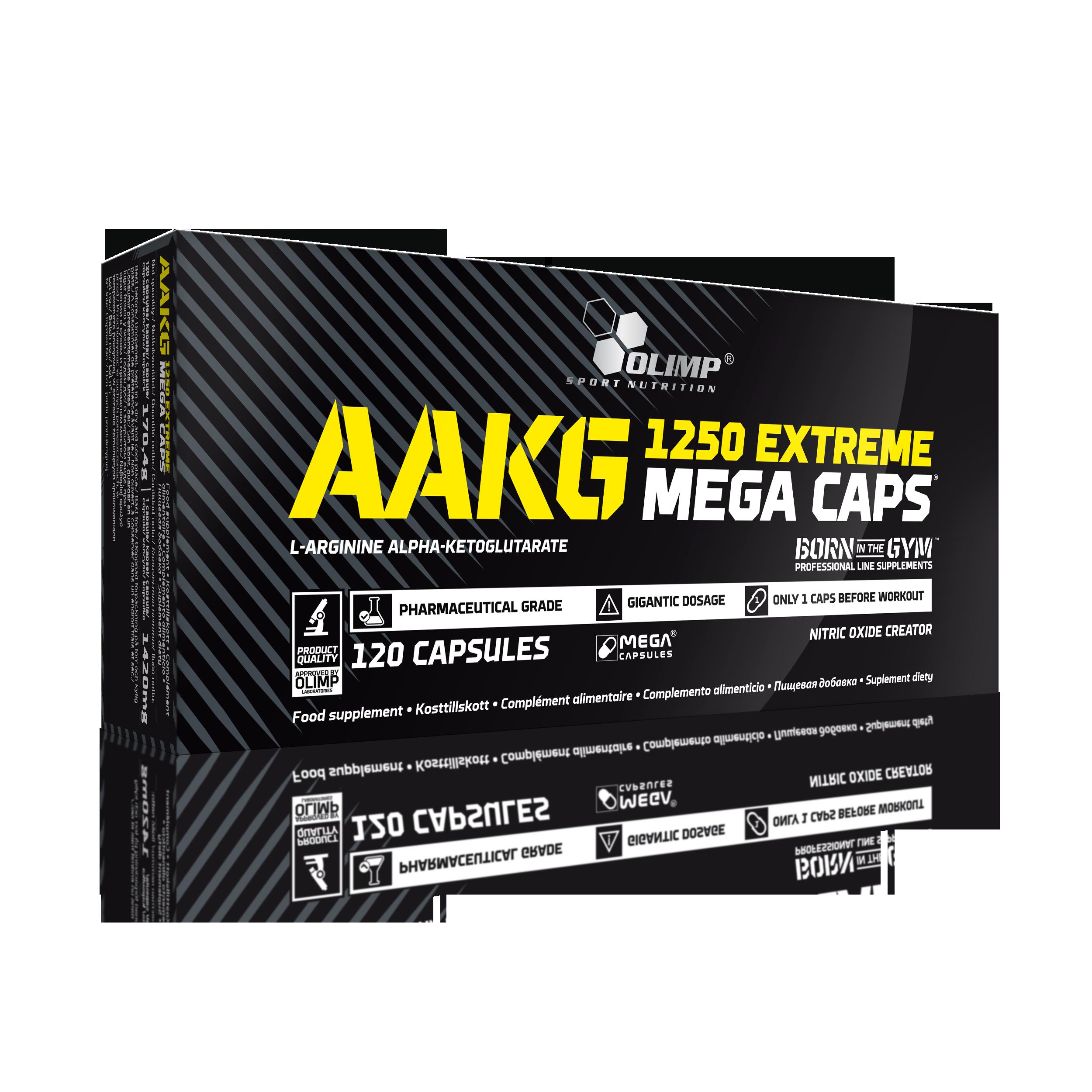 Olimp AAKG Extreme Mega Caps 1250, 120 kapslí