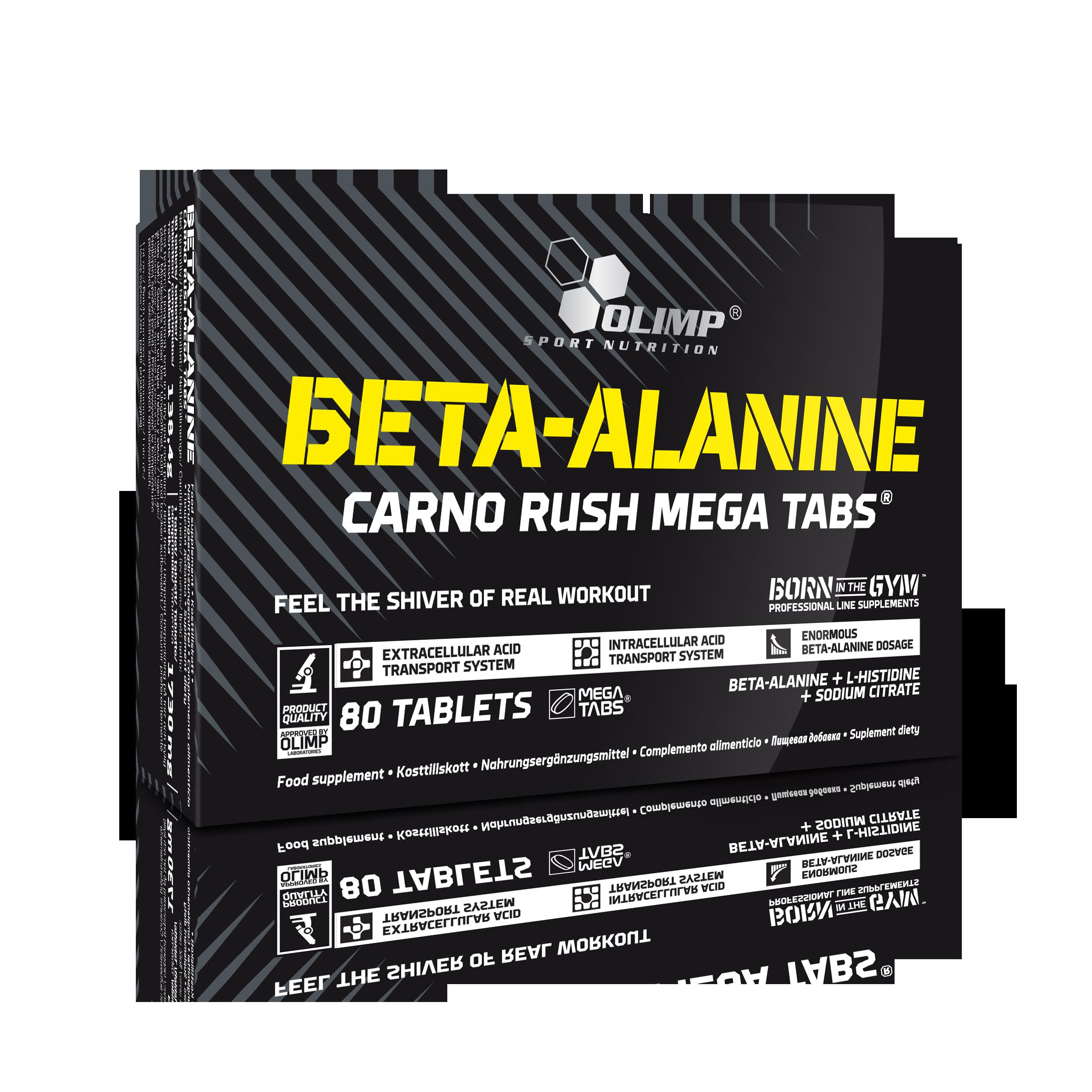 Olimp Beta-Alanin Carno Rush, 80 kapslí