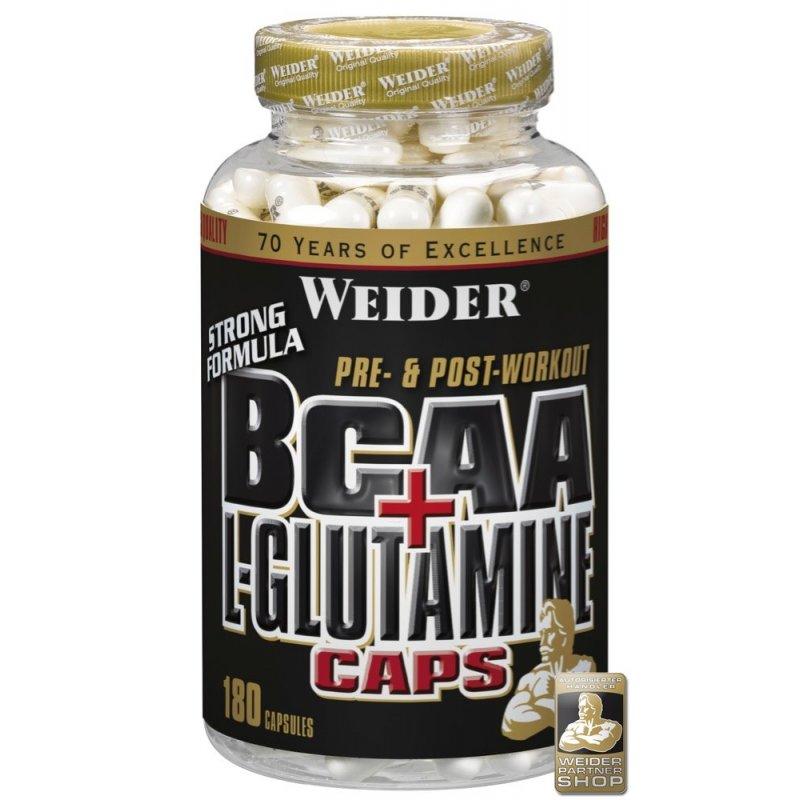 Weider BCAA + L-Glutamin, 180 kapslí