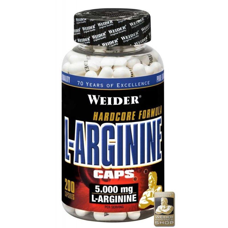 Weider L-Arginine Caps, 200 kapslí