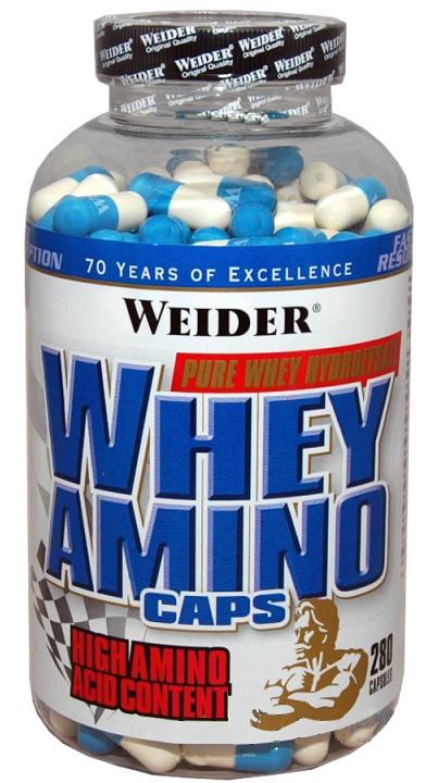 Weider Whey Amino Caps Komplexní Aminokyseliny, 280 kapslí