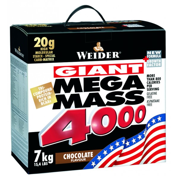 Weider Giant Mega Mass 4000 Gainer, 7000g