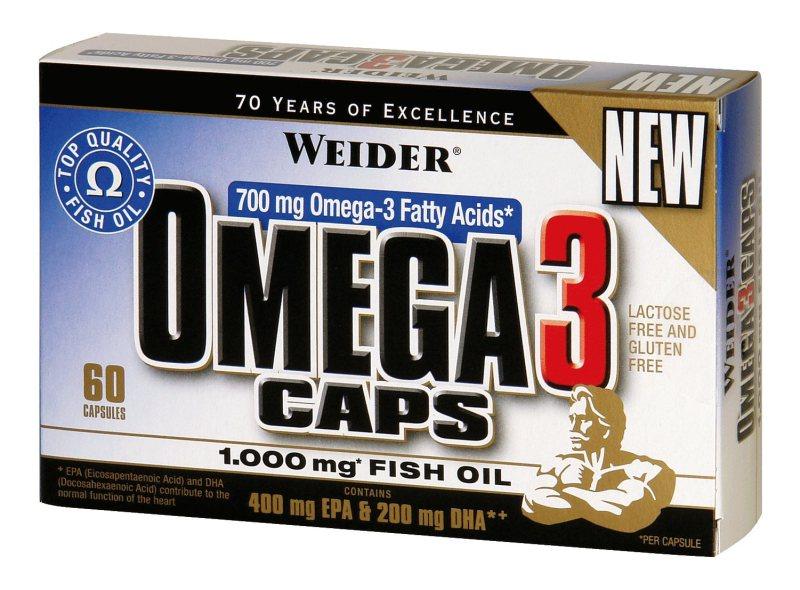 Weider Omega 3 Caps, 60 kapslí