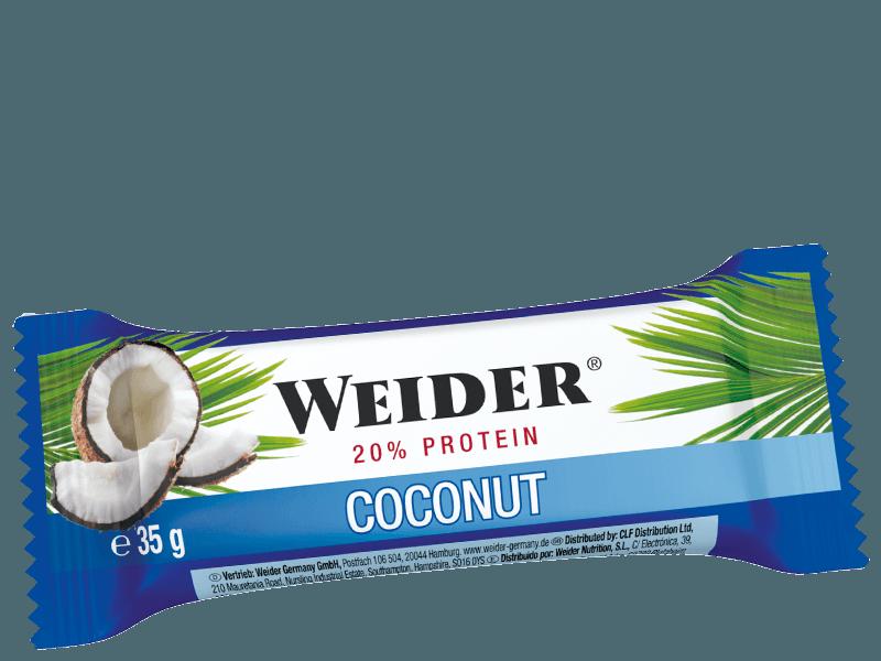 Weider 20% Protein bar Coconut, 35g