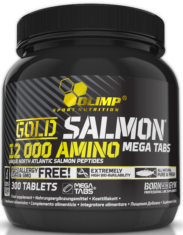 Olimp Gold Salmon 12000 Amino Mega Caps, 300 tablet