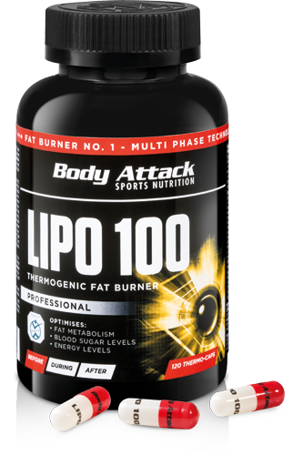 Body Attack LIPO 100, 120 kapslí