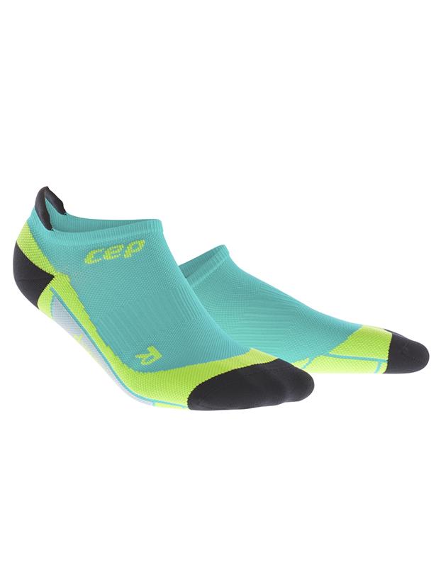 CEP Nízké ponožky pánské modrá lagoon / limetková V