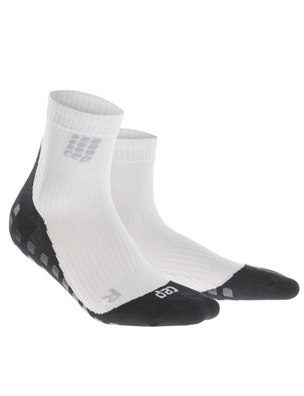 CEP Krátké ponožky griptech pánské bílá IV