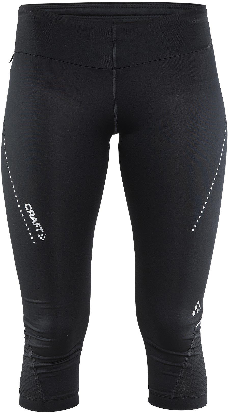 4596ab7fc3ab Craft W Nohavice Essential Capri čierna XS