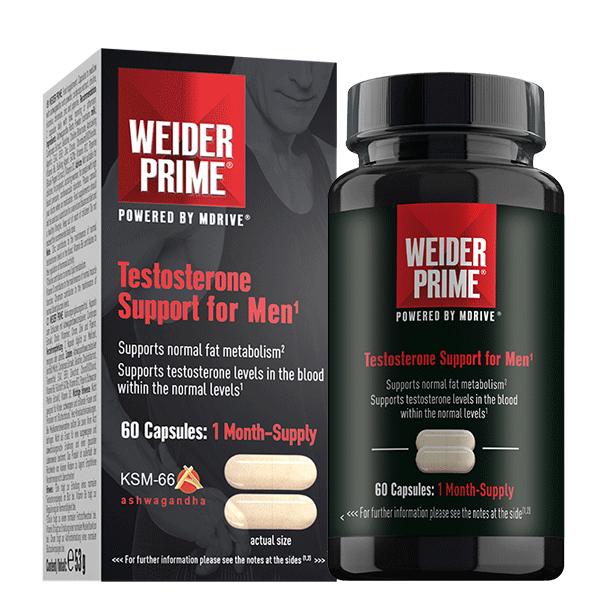 Weider Prime Testosterone Support For Men, 60 kapslí