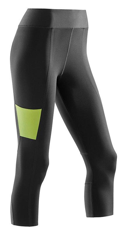 CEP 3/4 sportovní kalhoty PERFORMANCE dámské XS černá / limetková I