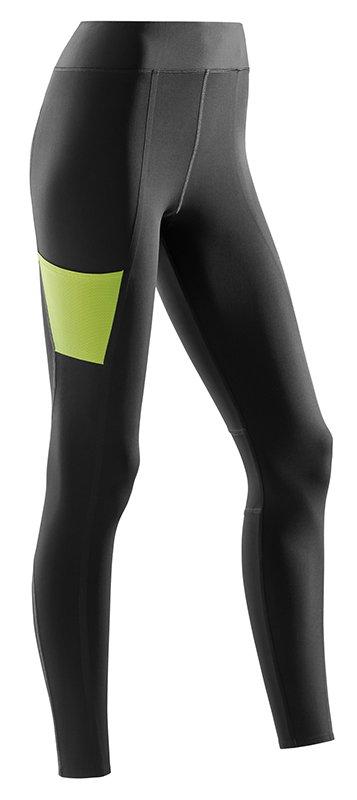 CEP Sportovní kalhoty PERFORMANCE dámské XS černá / limetková I