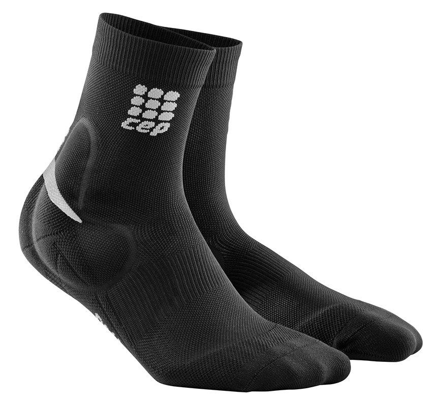 CEP Ponožky s podporou achilovky pánské černá / zelená III III