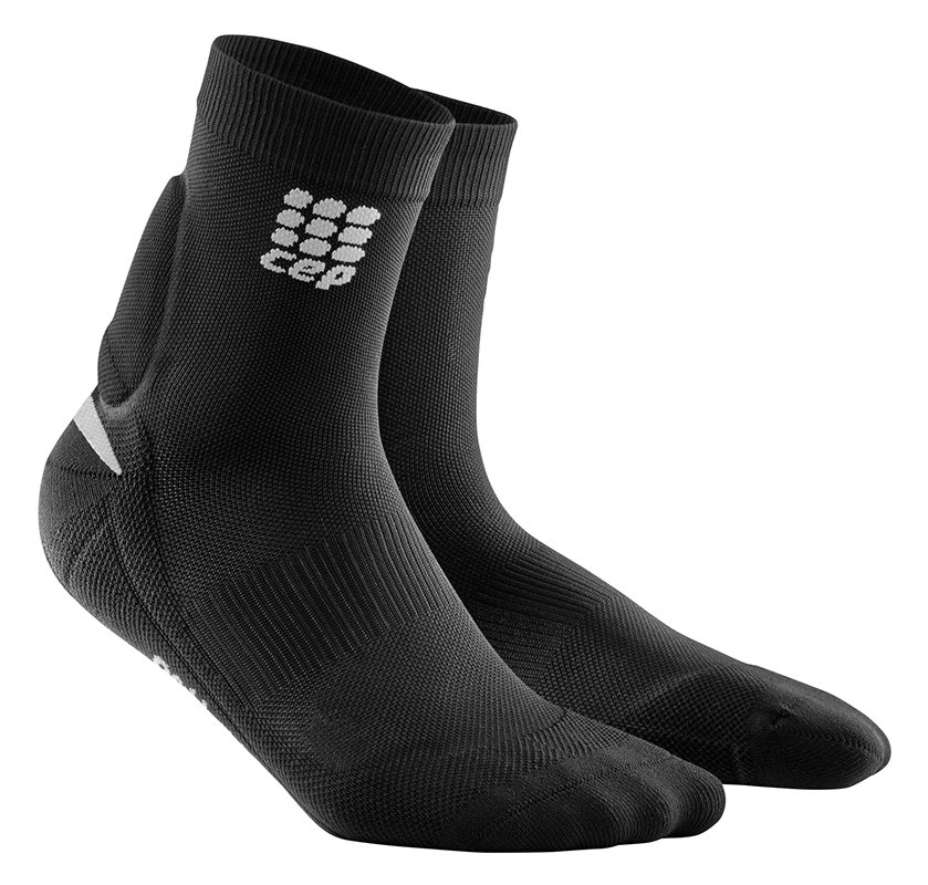 CEP Ponožky s podporou kotníku pánské černá / zelená III III