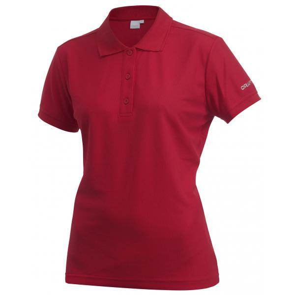 Craft W Tričko Classic Polo Pique červená L