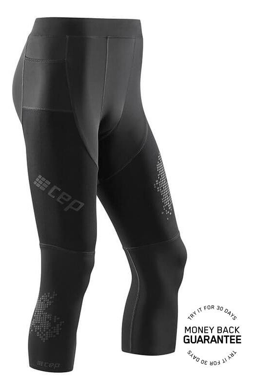 CEP 3/4 běžecké kalhoty 3.0 pánské černá II