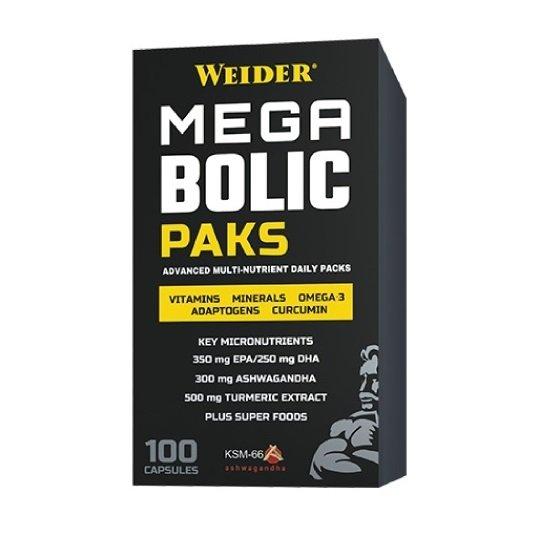 Weider Mega Bolic Paks multivitamíny, 100 kps