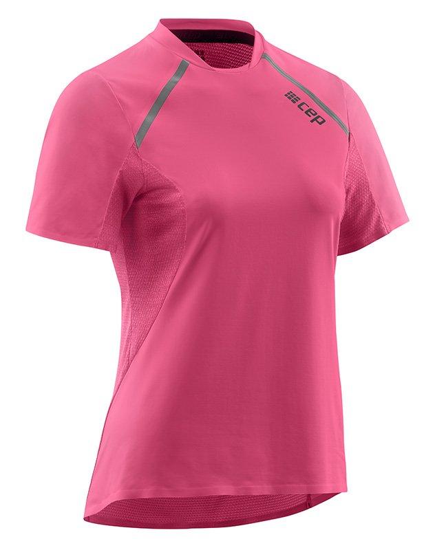 CEP Bežecké tričko s krátkym rukávom dámske ružová rose L