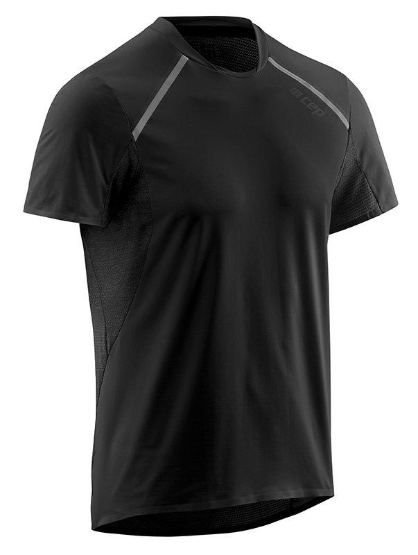CEP Bežecké tričko s krátkym rukávom pánske čierna M