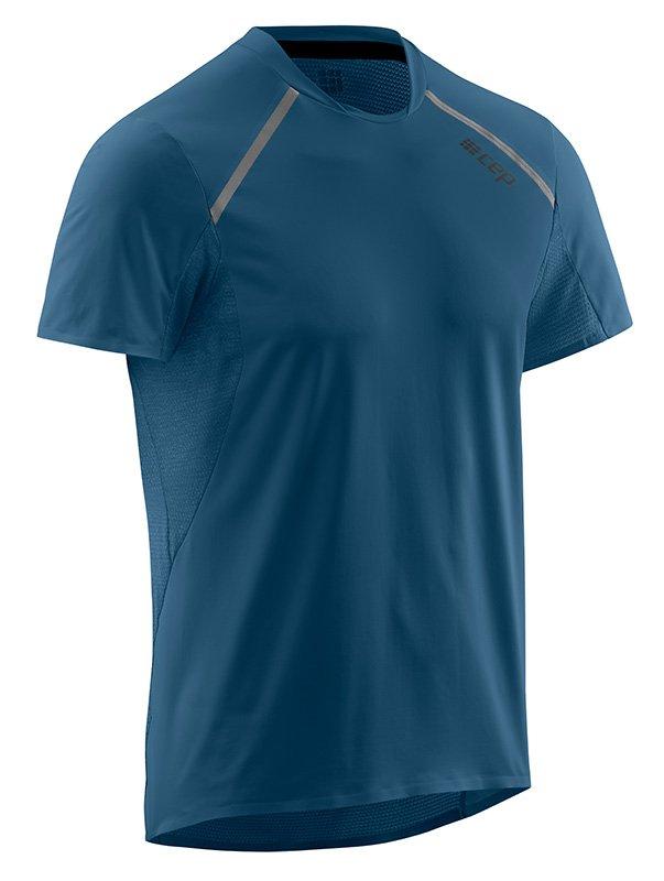 CEP Bežecké tričko s krátkym rukávom pánske modrá M