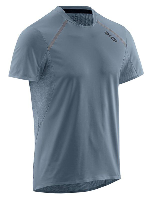 CEP Bežecké tričko s krátkym rukávom pánske šedá M