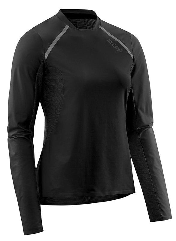 CEP Běžecké tričko s dlouhým rukávem dámské černá XS