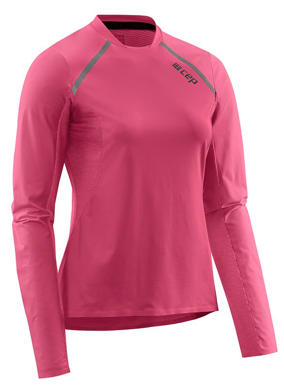 CEP Bežecké tričko s dlhým rukávom dámske ružová XS