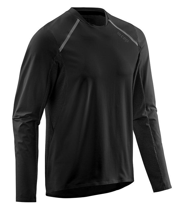 CEP Bežecké tričko s dlhým rukávom pánske čierna S