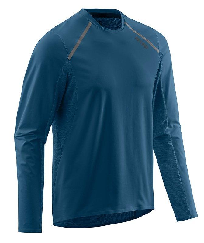CEP Bežecké tričko s dlhým rukávom pánske modrá S