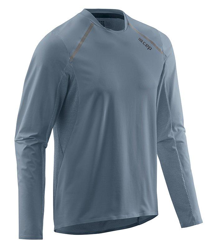 CEP Bežecké tričko s dlhým rukávom pánske šedá S