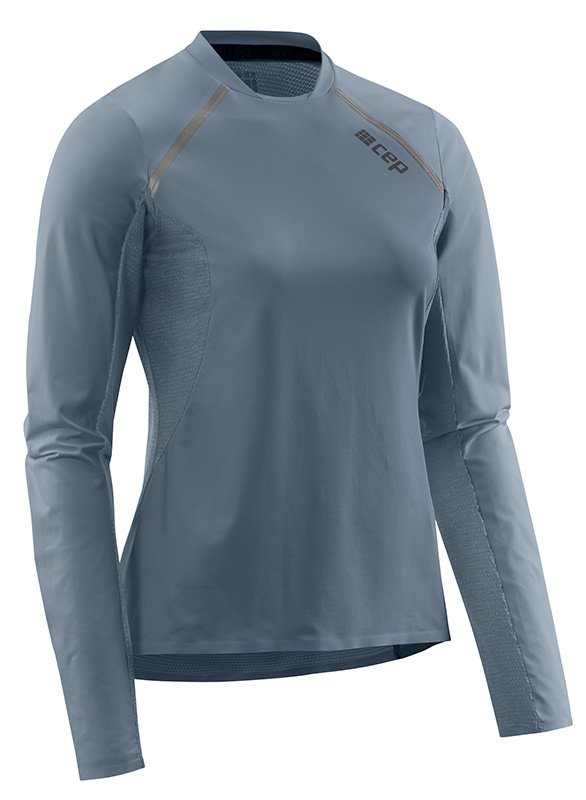 CEP Bežecké tričko s dlhým rukávom dámske šedá S
