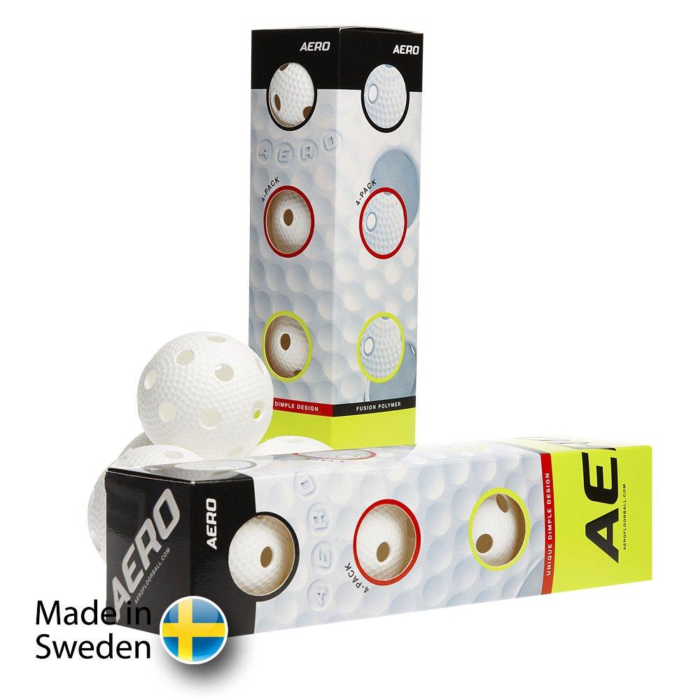Salming Aero Ball White 4-pack