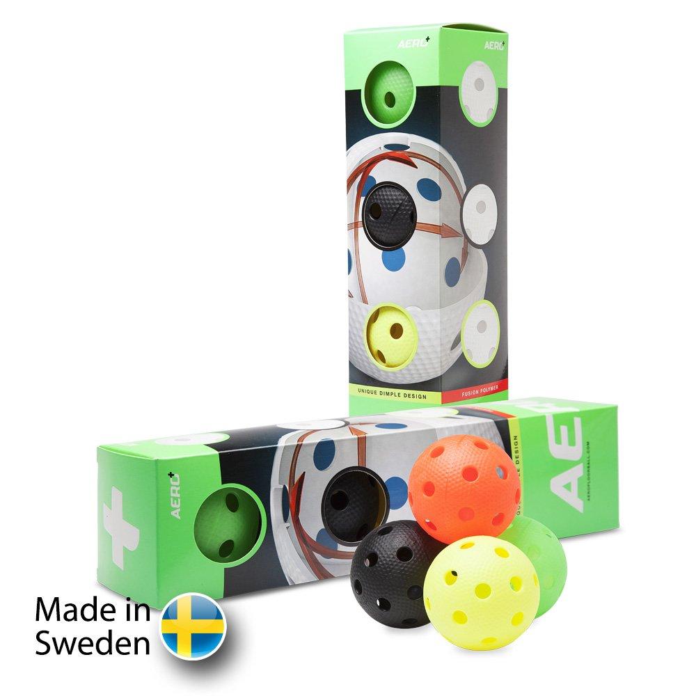 Salming Aero Plus Ball Colour 4-pack