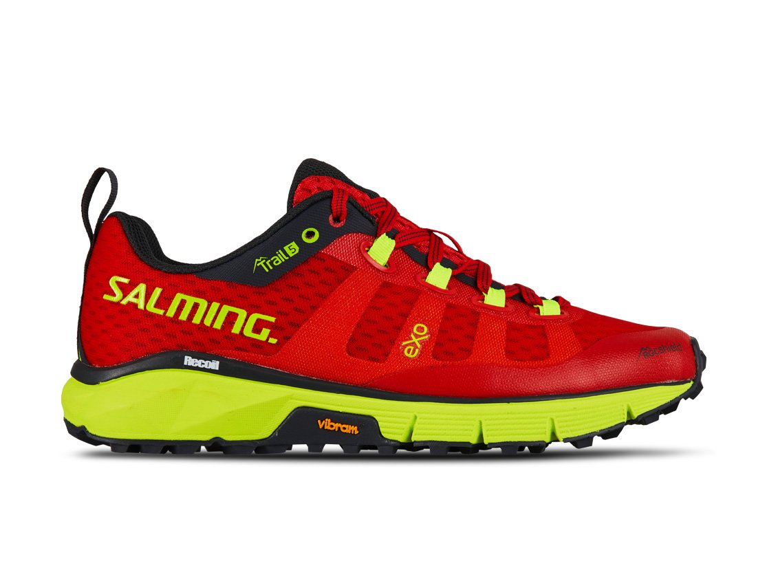 Salming Trail 5 Women Poppy Red/Safety Yellow 36