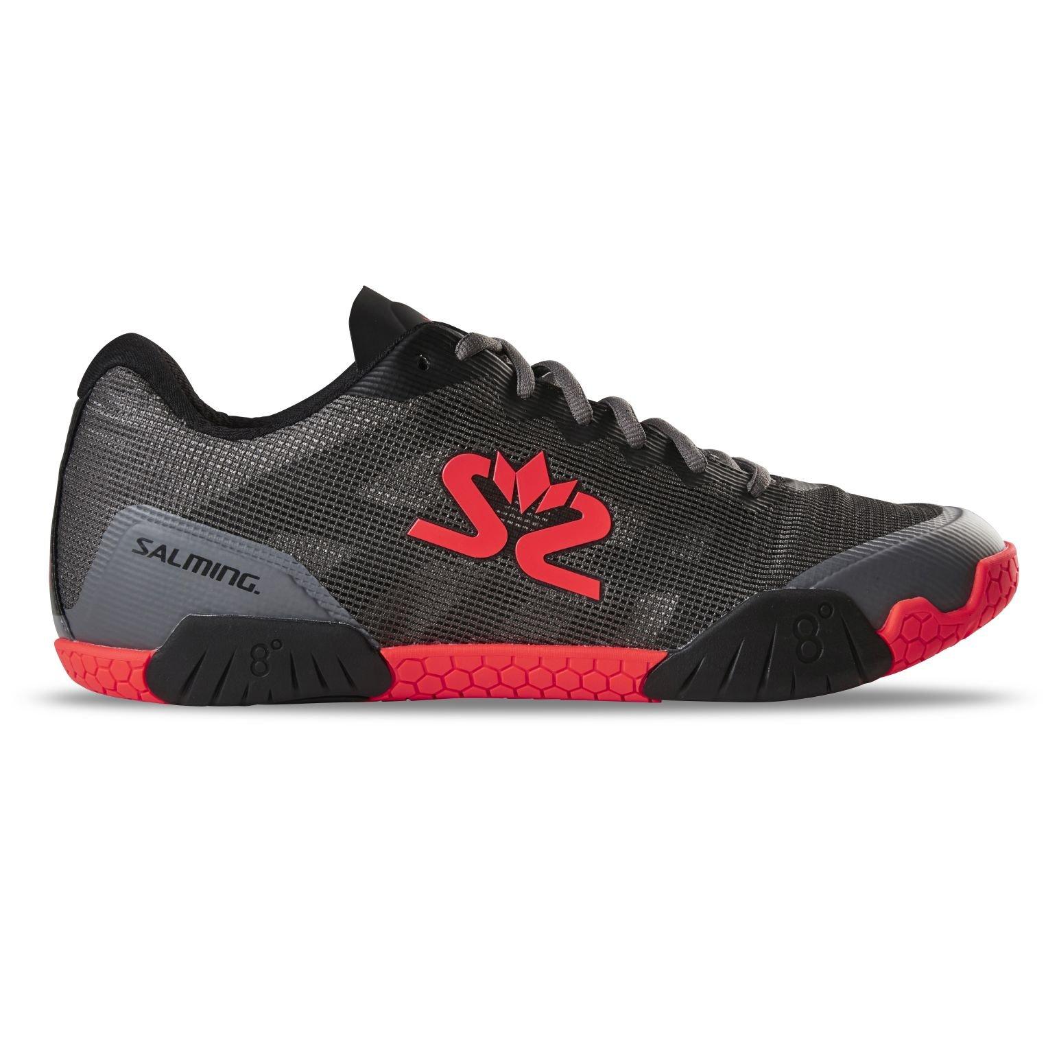 Salming Hawk Shoe Men GunMetal/Red 49 1/3