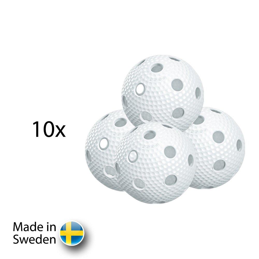 Salming Aero Ball White 10 pack