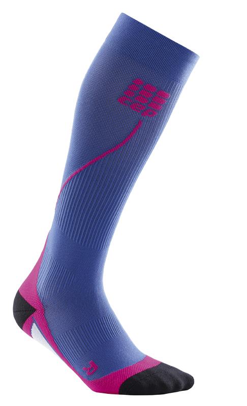 CEP Běžecké podkolenky dámské purpurově modrá / růžová II