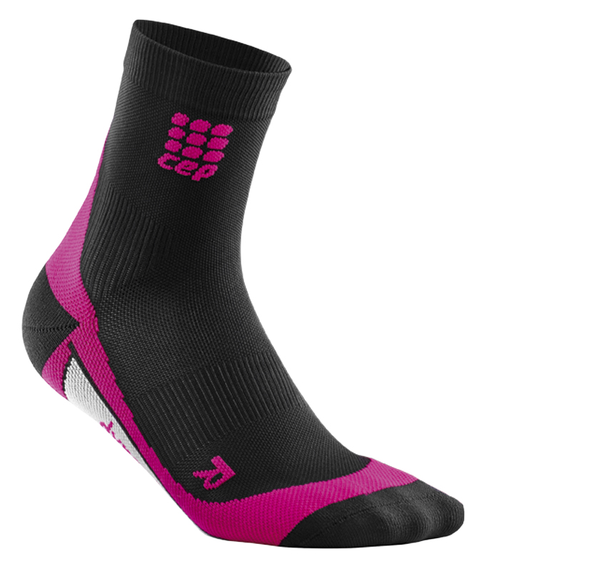 CEP Krátké ponožky dámské černá / růžová II