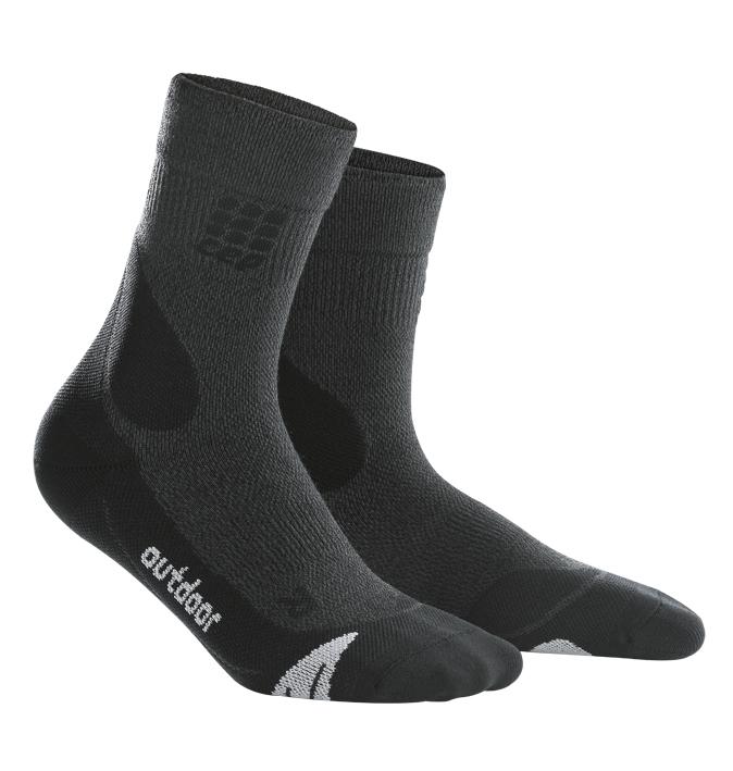 CEP Outdoorové ponožky merino pánské šedá / černá IV