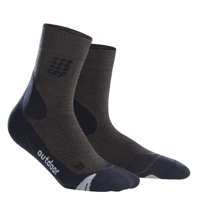 CEP Outdoorové ponožky merino pánské hnědá / černá V